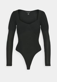 New Look - MINI PUFF SLEEVE BODY - Long sleeved top - black - 0