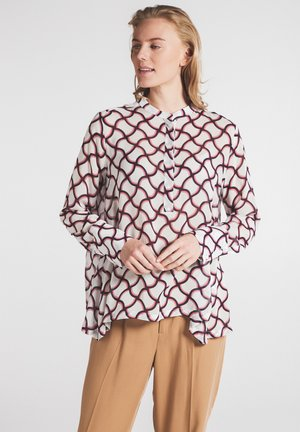 Long sleeved top - weiss/pink/schwarz