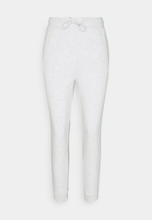 SLIM FIT SWEAT JOGGERS  - Tracksuit bottoms - mottled light grey