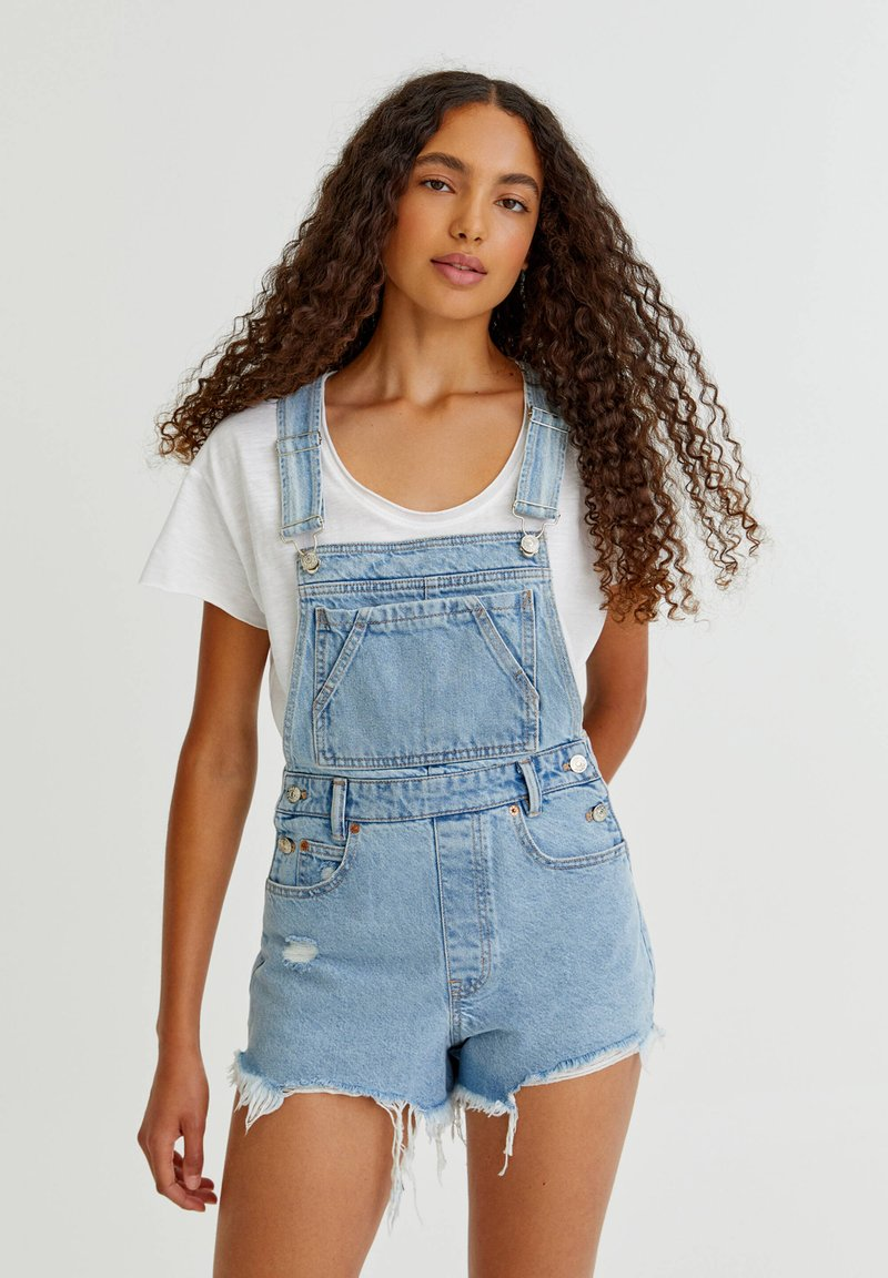 PULL&BEAR - Dungarees - blue