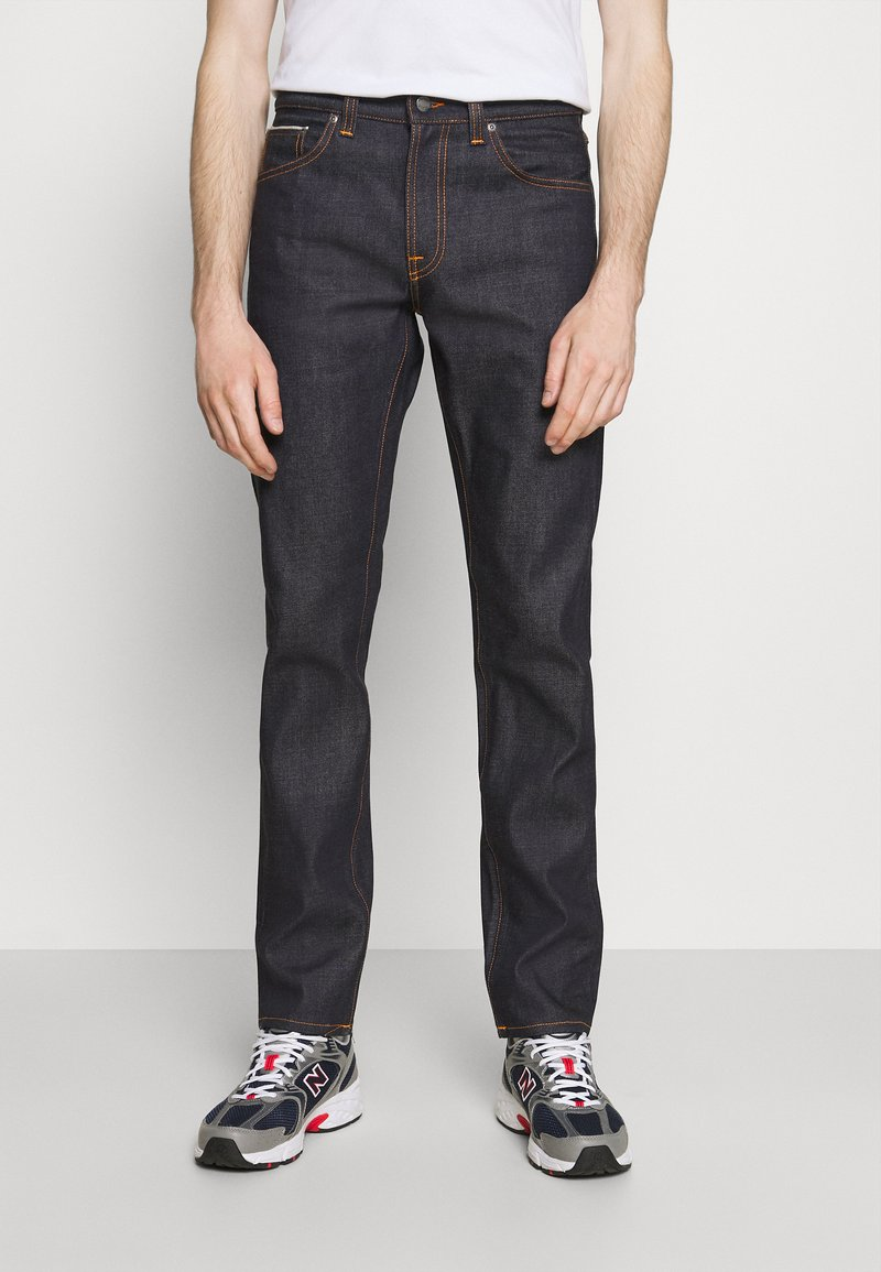 Nudie Jeans - GRITTY JACKSON - Vaqueros rectos - dark-blue denim