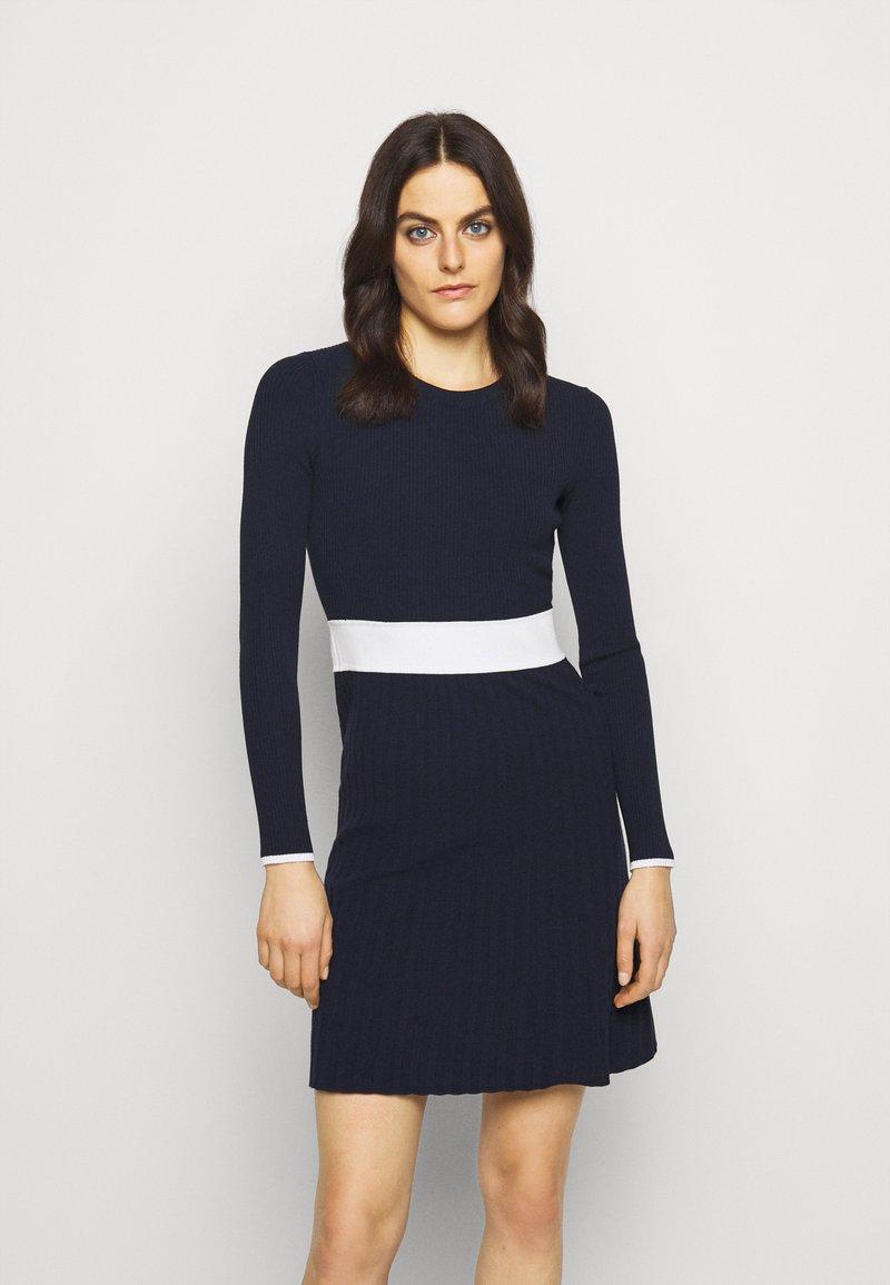 HUGO - SEAGERY - Jumper dress - open blue