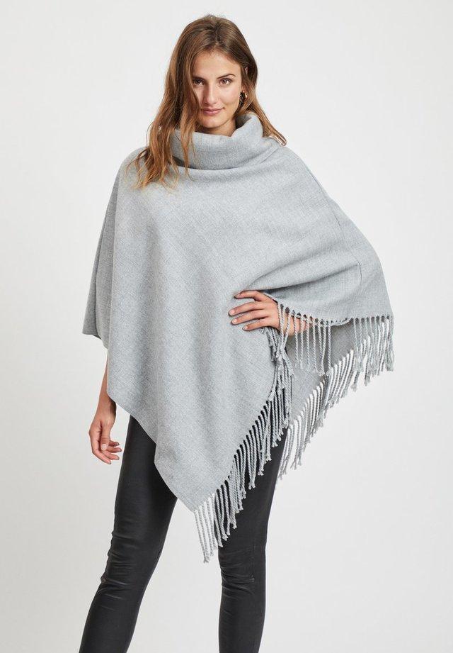 Poncho - light grey melange