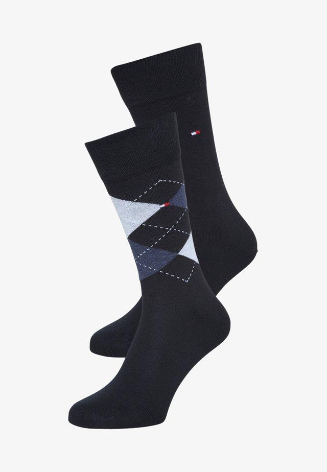 MEN SOCK CHECK 2 PACK - Socks - dark navy