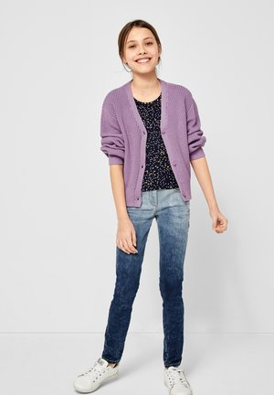 MIT RIPPSTRUKTUR - Cardigan - light purple