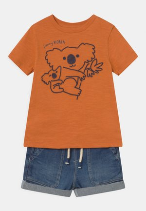 SET - Print T-shirt - mock orange