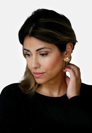 2-IN-1 MIT PERLE - Earrings - white