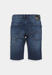 TOM TAILOR DENIM - REGULAR FIT - Denim shorts - used mid stone blue denim - 1