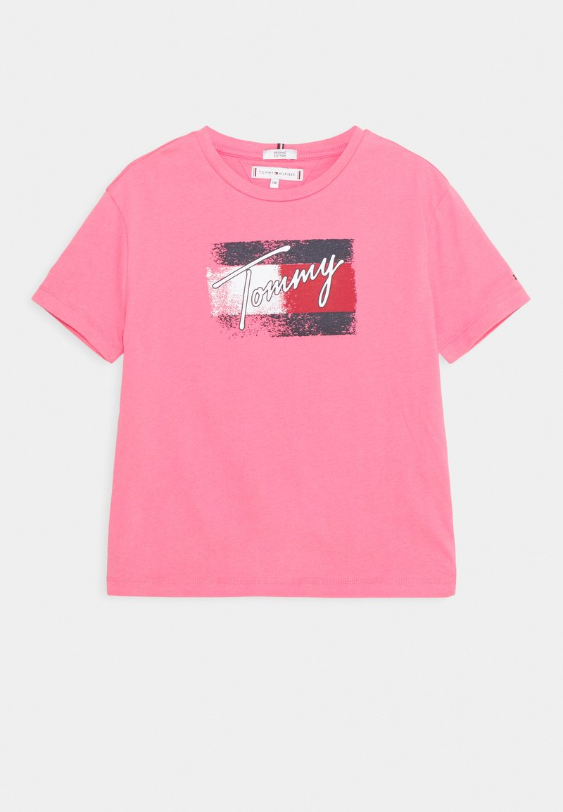 Tommy Hilfiger - FLAG - Printtipaita - exotic pink