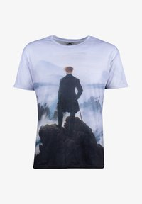 Mr. GUGU & Miss GO - WANDERER ABOVE THE SEA OF FOG - Print T-shirt - blue - 4