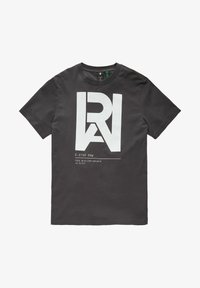G-Star - GRAPHIC RAW - T-shirt con stampa - raven - 4