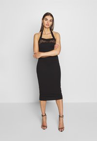 Lost Ink - BODYCON DRESS - Etuikjole - black - 0