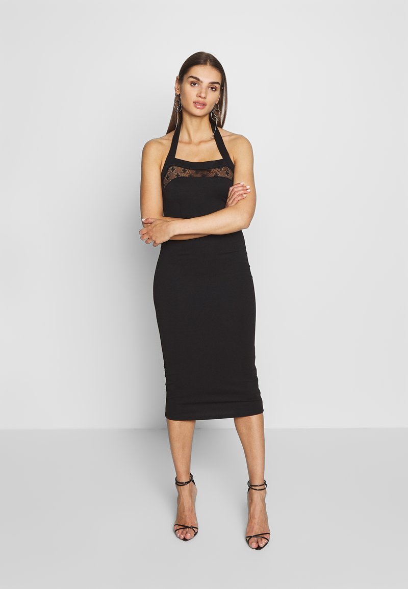 Lost Ink - BODYCON DRESS - Etuikjole - black