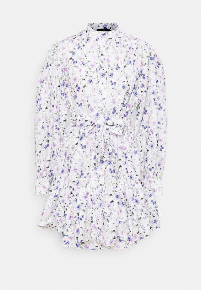 DRESS - Blousejurk - ecru/lavender