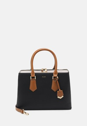 BOZEMANI - Handbag - black/bone/tan