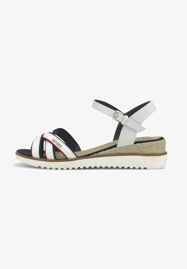 Sandalen met sleehak - offwhite