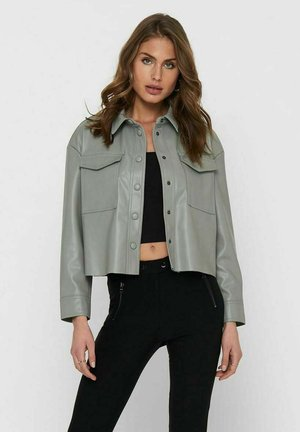 Faux leather jacket - shadow