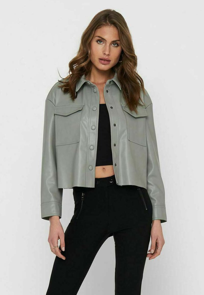 ONLY - Faux leather jacket - shadow