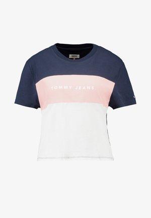 STRIPE LOGO TEE - T-shirt med print - classic white/multi