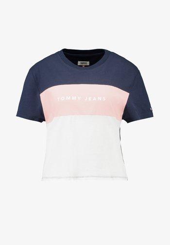 STRIPE LOGO TEE - T-shirt con stampa - classic white/multi