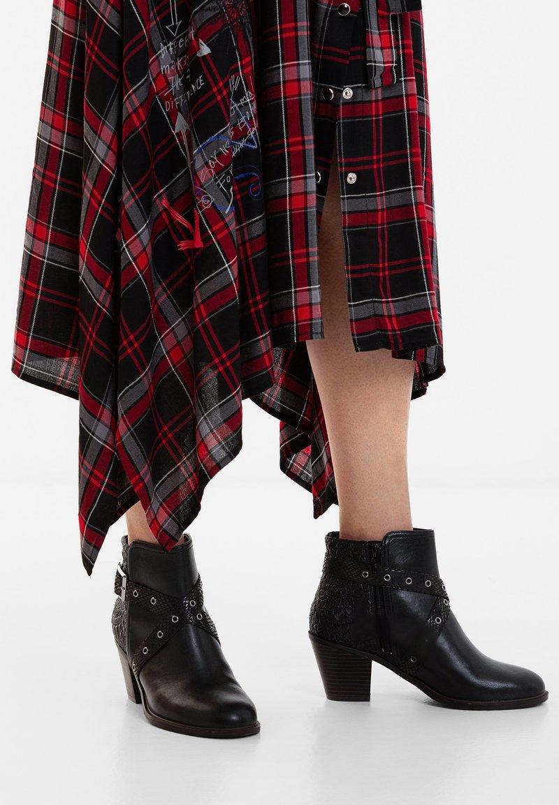 Desigual - ALASKA MANDALA - Classic ankle boots - black
