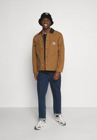 Carhartt WIP - RUGBY POLO - Polo shirt - black/hamilton brown/white - 1