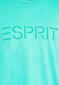 Esprit - LOGO - Print T-shirt - aqua green - 5