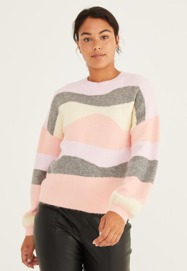SCENIC STRIPED  - Neule - pink