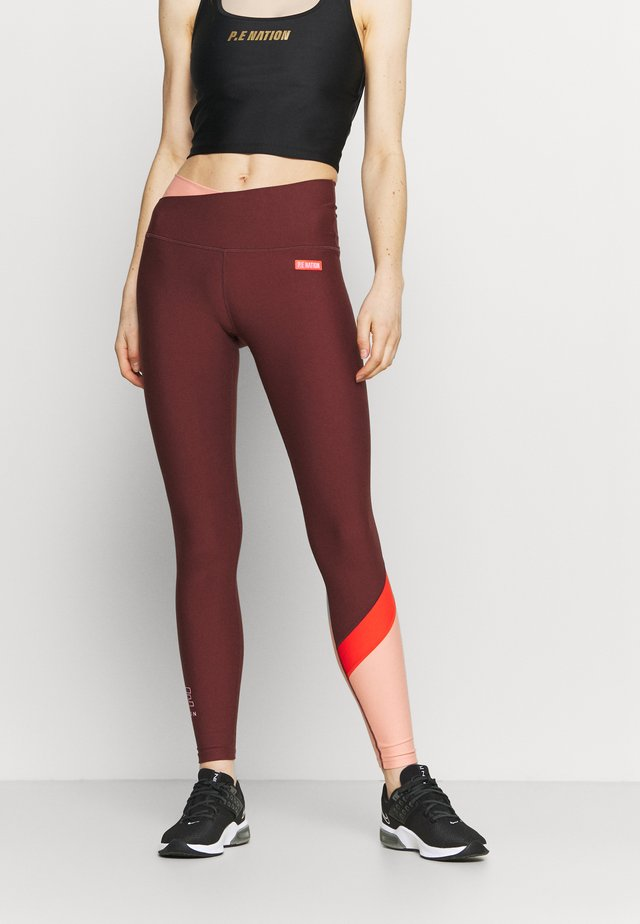 POINT FORWARD LEGGING - Legging - bordeaux