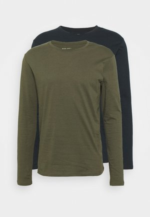 2 PACK - Långärmad tröja - olive/dark blue