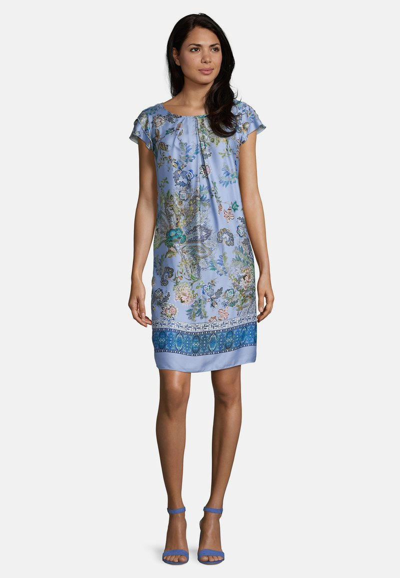 Betty Barclay - MIT BLUMENPRINT - Day dress - blue/rosé