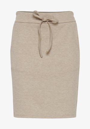 FRPELUX 3 - Pencil skirt - beige melange