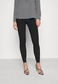 New Look - ZIP BENG SLIM LEG - Trousers - black - 0
