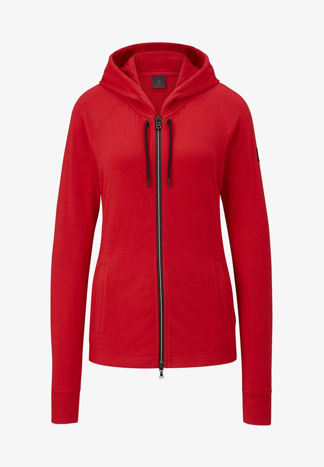 veste en sweat zippée - rot