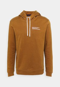 LONG SLEEVE HOOD TEXT LOGO RELAXED FIT - Hoodie - sandy day