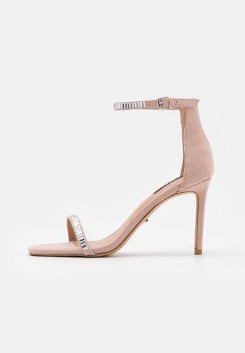 ONLALYX LIFE STONE  - Sandaler med høye hæler - beige