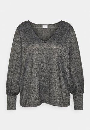 VIINFA V NECK - Long sleeved top - dark grey melange