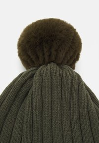 Huttelihut - WARMY FOLD UP POMPOM - Muts - olive/green - 0