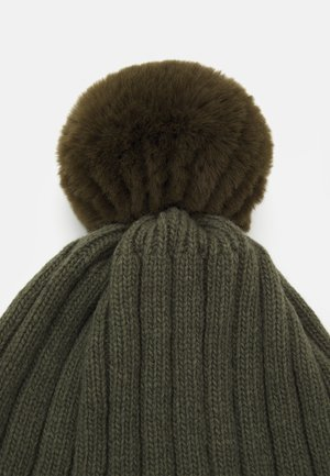 WARMY FOLD UP POMPOM - Čepice - olive/green