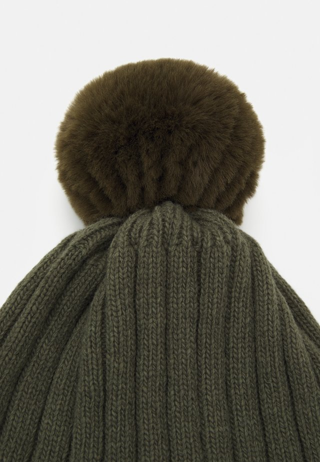 WARMY FOLD UP POMPOM - Beanie - olive/green
