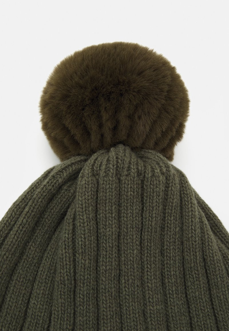 Huttelihut - WARMY FOLD UP POMPOM - Muts - olive/green