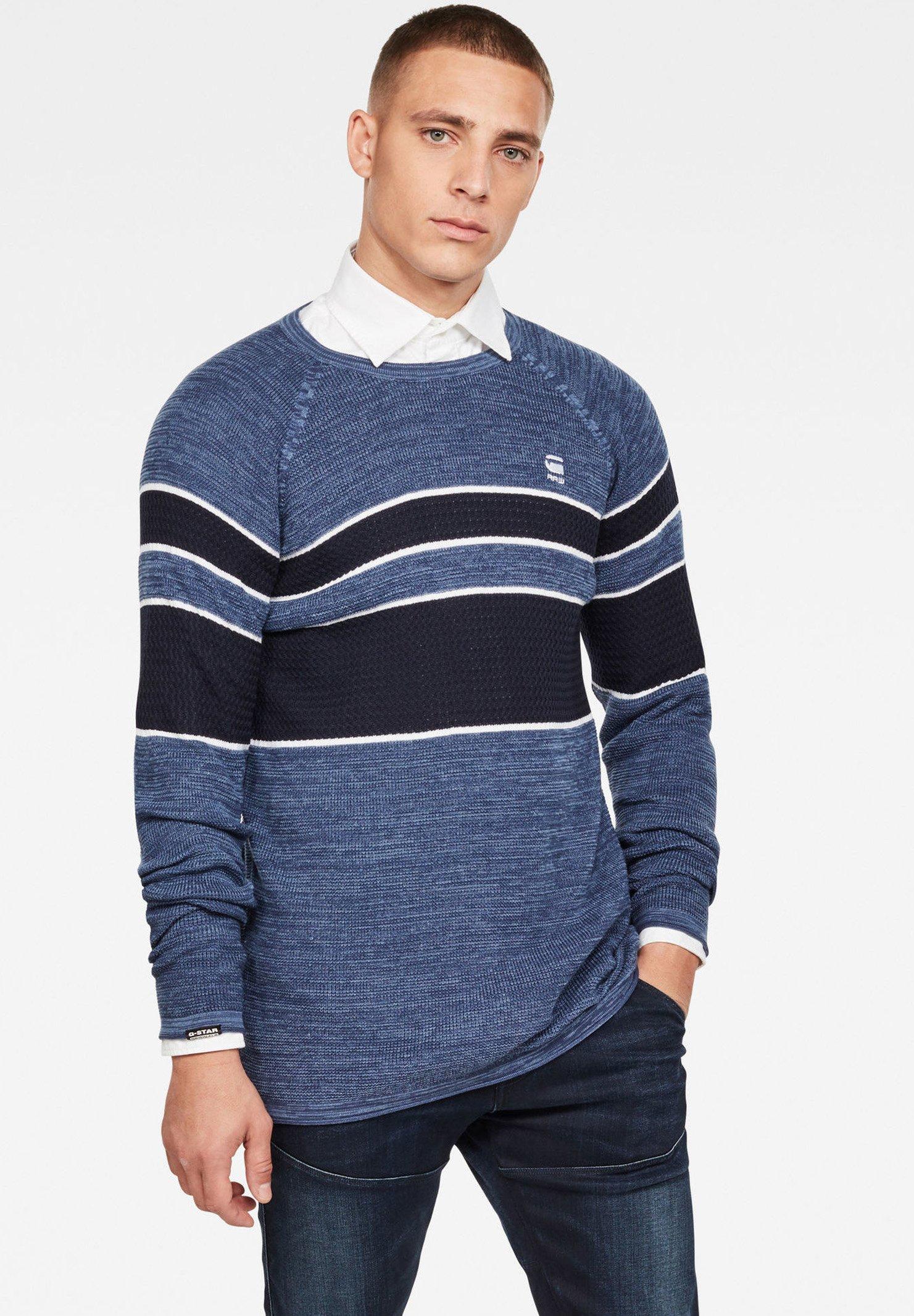 Homme RAGLAN BLOCK STRIPE - Pullover