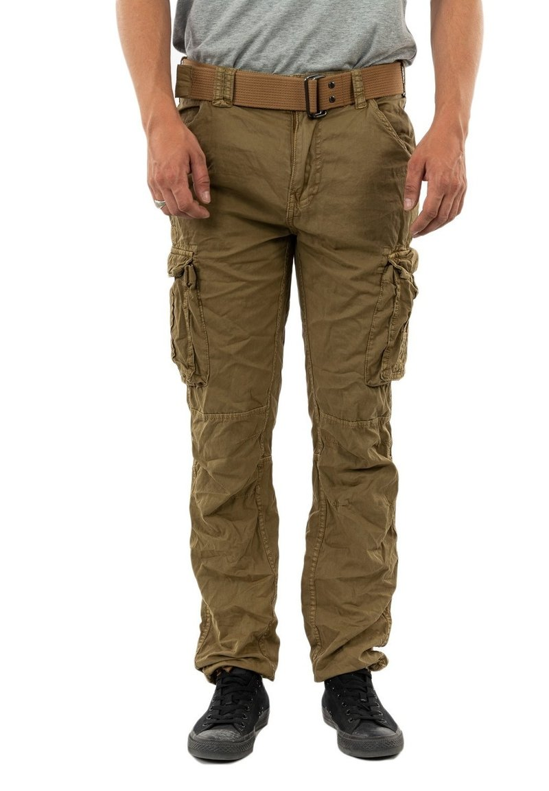 Schott - TRRANGER - Cargo trousers - camel