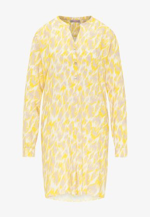 Shirt dress - yellow leo print