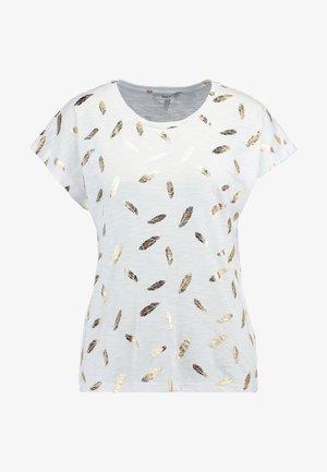 ONLFEATHER - T-shirt med print - cloud dancer/gold