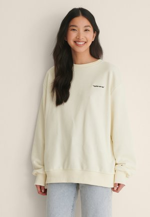 OVERSIZED - Sweatshirt - off white quotes