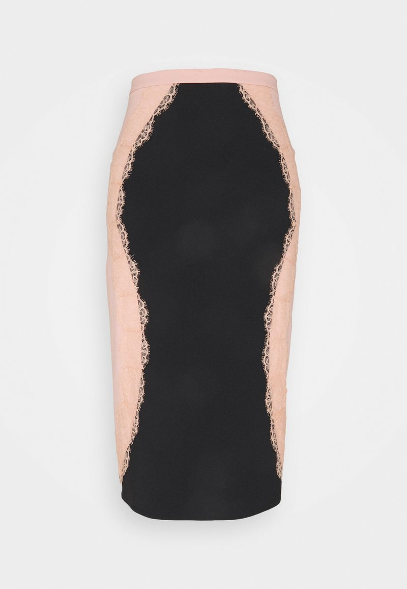 Elisabetta Franchi - Pencil skirt - nero/rosa antico