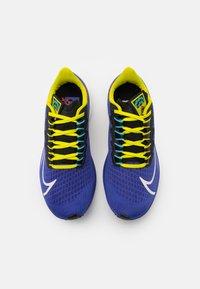 Nike Performance - AIR ZOOM PEGASUS 37 AS UNISEX - Neutral running shoes - rush violet/sail/black/bright cactus/baltic blue/team orange - 3