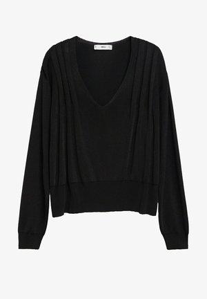 MONACO - Stickad tröja - schwarz