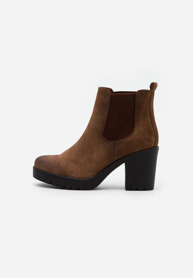 Ankle boots - cognac
